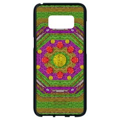 Flowers In Rainbows For Ornate Joy Samsung Galaxy S8 Black Seamless Case by pepitasart