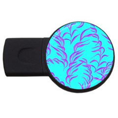 Branches Leaves Colors Summer Usb Flash Drive Round (2 Gb)