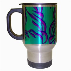 Branches Leaves Colors Summer Travel Mug (silver Gray)