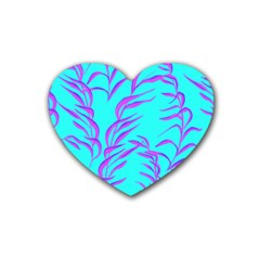 Branches Leaves Colors Summer Heart Coaster (4 Pack)  by Simbadda