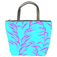 Branches Leaves Colors Summer Bucket Bag