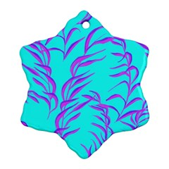 Branches Leaves Colors Summer Ornament (snowflake)