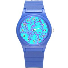 Branches Leaves Colors Summer Round Plastic Sport Watch (s)