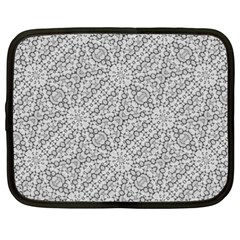 Geometric Grey Print Pattern Netbook Case (xxl) by dflcprints