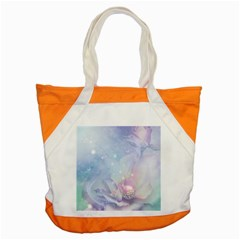 Wonderful Floral Design With Butterflies Accent Tote Bag