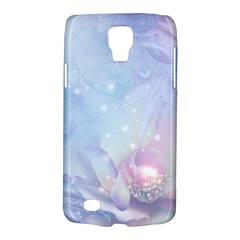 Wonderful Floral Design With Butterflies Samsung Galaxy S4 Active (i9295) Hardshell Case by FantasyWorld7