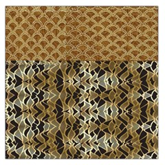 Diamond Seamless Lace Brown And Gold By Flipstylez Designs Large Satin Scarf (square) by flipstylezdes