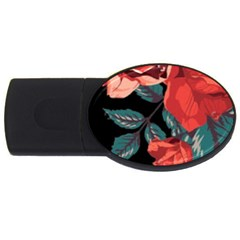 Bed Of Bright Red Roses By Flipstylez Designs Usb Flash Drive Oval (4 Gb) by flipstylezdes