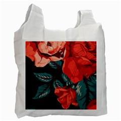 Bed Of Bright Red Roses By Flipstylez Designs Recycle Bag (one Side)