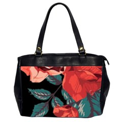 Bed Of Bright Red Roses By Flipstylez Designs Oversize Office Handbag (2 Sides)