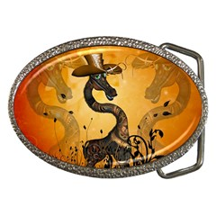Funny Steampunk Giraffe With Hat Belt Buckles