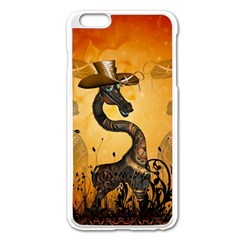 Funny Steampunk Giraffe With Hat Apple Iphone 6 Plus/6s Plus Enamel White Case