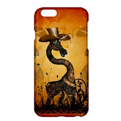 Funny Steampunk Giraffe With Hat Apple Iphone 6 Plus/6s Plus Hardshell Case by FantasyWorld7