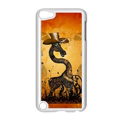 Funny Steampunk Giraffe With Hat Apple Ipod Touch 5 Case (white) by FantasyWorld7