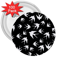 Birds Pattern 3  Buttons (100 Pack)  by Valentinaart