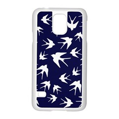 Birds Pattern Samsung Galaxy S5 Case (white) by Valentinaart