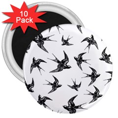 Birds Pattern 3  Magnets (10 Pack)