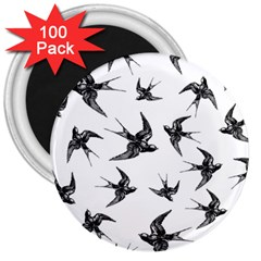 Birds Pattern 3  Magnets (100 Pack)
