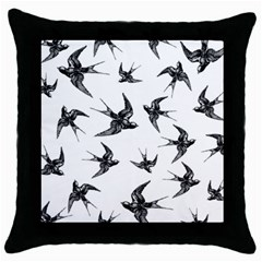 Birds Pattern Throw Pillow Case (black)