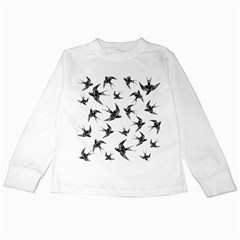 Birds Pattern Kids Long Sleeve T Shirts
