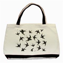 Birds Pattern Basic Tote Bag (two Sides)