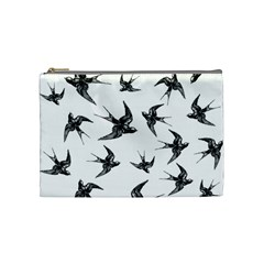 Birds Pattern Cosmetic Bag (medium)