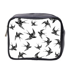Birds Pattern Mini Toiletries Bag (two Sides)