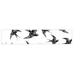 Birds Pattern Small Flano Scarf
