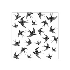 Birds Pattern Satin Bandana Scarf