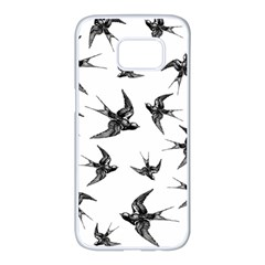 Birds Pattern Samsung Galaxy S7 Edge White Seamless Case