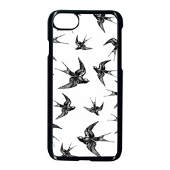 Birds Pattern Apple Iphone 7 Seamless Case (black)
