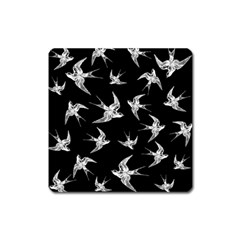 Birds Pattern Square Magnet