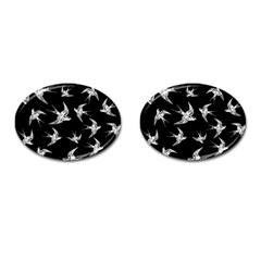 Birds Pattern Cufflinks (oval)