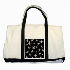 Birds Pattern Two Tone Tote Bag