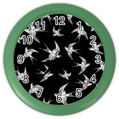 Birds Pattern Color Wall Clock