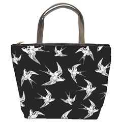 Birds Pattern Bucket Bag