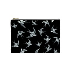 Birds Pattern Cosmetic Bag (medium) by Valentinaart