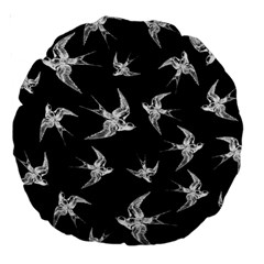 Birds Pattern Large 18  Premium Round Cushions