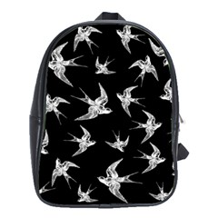 Birds Pattern School Bag (xl)