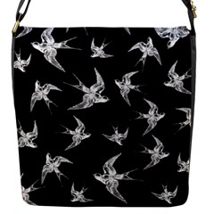Birds Pattern Flap Closure Messenger Bag (s)