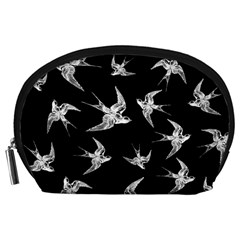 Birds Pattern Accessory Pouch (large)