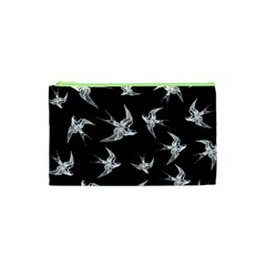 Birds Pattern Cosmetic Bag (xs)