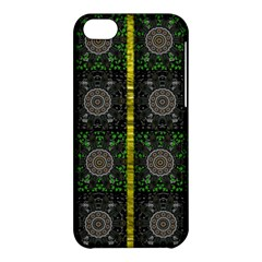 Stars And Flowers Decorative Apple Iphone 5c Hardshell Case by pepitasart