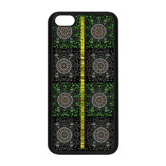 Stars And Flowers Decorative Apple Iphone 5c Seamless Case (black) by pepitasart