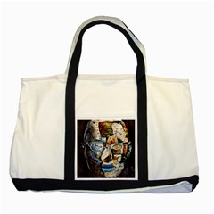 Robot Cyborg Cyberpunk Automation Two Tone Tote Bag