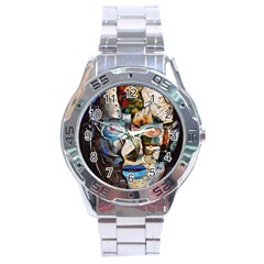 Robot Cyborg Cyberpunk Automation Stainless Steel Analogue Watch