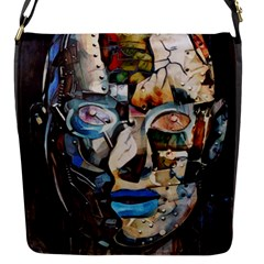 Robot Cyborg Cyberpunk Automation Flap Closure Messenger Bag (s) by Simbadda