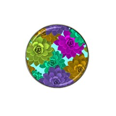 Flowers Stamping Pattern Reason Hat Clip Ball Marker