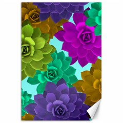 Flowers Stamping Pattern Reason Canvas 20  X 30
