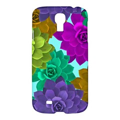 Flowers Stamping Pattern Reason Samsung Galaxy S4 I9500/i9505 Hardshell Case